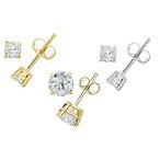 1/4CTTW Certified Diamond Stud Earrings