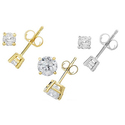 1/4—4.00 CTTW Certified Diamond Stud Earrings in 14K Gold