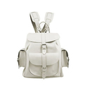 Grafea Bianca Medium Leather Rucksack