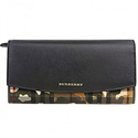 Burberry Horseferry Check and Camouflage Continental Wallet