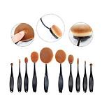 10pcs Oval Makeup Brushes
