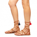 Soludos Suede Gladiator Lace-up Sandals