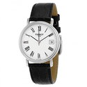 Tissot T-Classic Desire White Dial Black Leather Men's Watch
