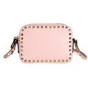 Valentino Rockstud Alce Leather Camera Bag - Pink