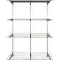 FastTrack 4 Shelf Silver Metallic Wire Shelves