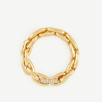Pave Link Stretch Bracelet