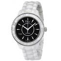 Dior VIII Automatic Black Dial White Ceramic Ladies Watch