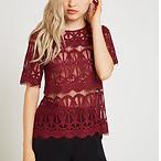 Sheer Lace Tunic