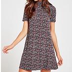 Geometric Turtleneck Dress