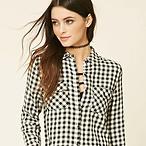 Gingham Plaid Cotton Shirt