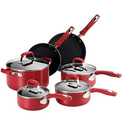 Guy Fieri Nonstick Aluminum Cookware Set (10-Piece)