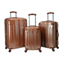 Travelers Club Luggage 3-Piece Metallic Hardside Spinners