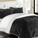 Pinch Pleat Mink Sherpa Lined Comforter Set (2- or 3-Piece)