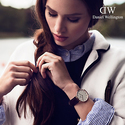 Daniel Wellington 0508DW Rose Sheffield Black Leather