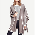 Tipped Poncho Cape
