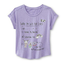Piper Faves Girl's Glitter Graphic Top
