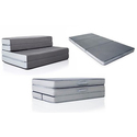 "Lucid 4"" Folding Mattress/Sofa Bed"