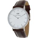 Daniel Wellington Women's St. Andrews 0607DW Brown Leather Quartz Watch