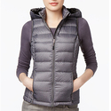 32 Degrees Women's Packable Down Hooded Puffer Vest