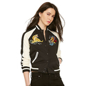 Chest-patch Baseball Jacket