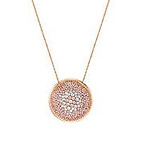 Rose Goldplated Crystal Pendant Necklace