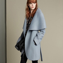 T Tahari Wool Blend Belted Wrap Coat