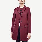 Plaid Merino Sweater Coat