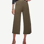 Knit Wide Leg Crop Pants