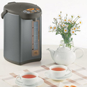 Zojirushi CD-WBC40-TS Micom 4-Liter Water Boiler and Warmer, Silver Brown