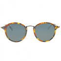 Ray Ban Round Fleck Blue/Gray Classic Sunglasses