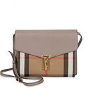 Burberry Small Leather and House Check Crossbody