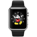 Apple Watch 42mm Stainless Steel w/ Classic Buckle + Black Leather