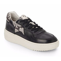 Ash Snake-Print Trimmed Leather Platform Sneakers