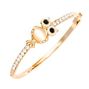 18K Gold Plated Owl Bangle Made with Swarovski Elements