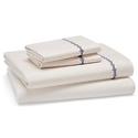 Sky Queen Size Eyelet Stripe Sheet Sets