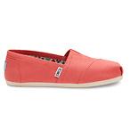 经典西瓜红帆布鞋