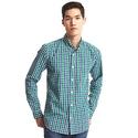 True wash classic plaid standard fit shirt