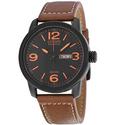 Citizen Eco Drive Black Dial Brown Leather Men's Watch