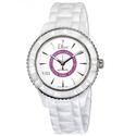 Dior VIII White Dial Ceramic Ladies Watch