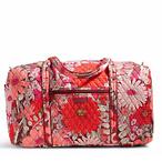 红色碎花旅行包