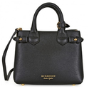 Burberry The Baby Banner Leather and House Check Tote
