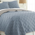 Single-Stitch Lattice or Chevron Reversible Coverlet Set (3-Piece)