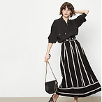Jacquard Knit Long Skirt