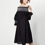 Short Dress with Smocking