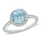 Blue and White Topaz Ring