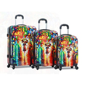 Dejuno Parisian Nights Lightweight Hardside Spinner Luggage Set (3-Piece)