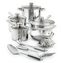 Stainless Steel 13-Pc. Cookware Set,