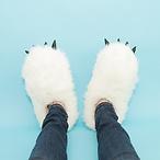 雪人毛拖鞋