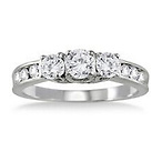 1 Carat Diamond 10K White Gold Ring