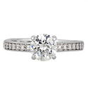 Swarovski Attract Round Silver-Tone Ring Size 6